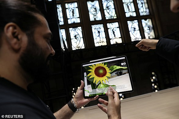Dailymail.com was able to try out the new iPad Pro during an Apple launch event in Brooklyn