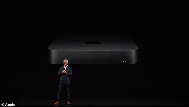 "CEO Tim Cook described the redesigned Mac Mini as ""small but powerful Mac users have been waiting."" The device was unveiled on Tuesday at the company's hardware event in Brooklyn"
