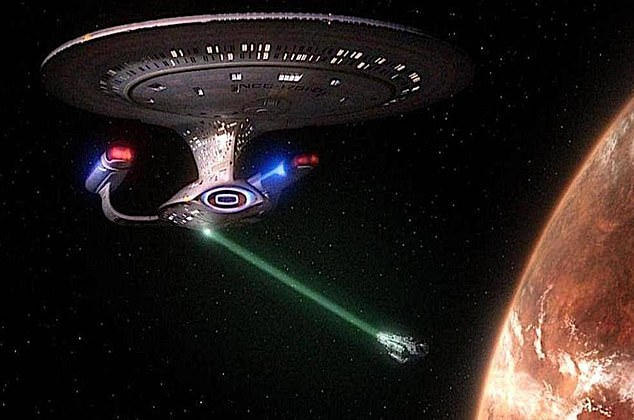 """Star Trek saw many ships with tractor beam capabilities that were often used to """"freeze"""" or move enemy ships"""