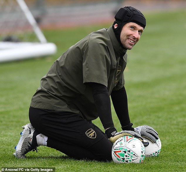 Goalkeeper Petr Cech will play Blackpool's Blackpool thigh after a thigh injury