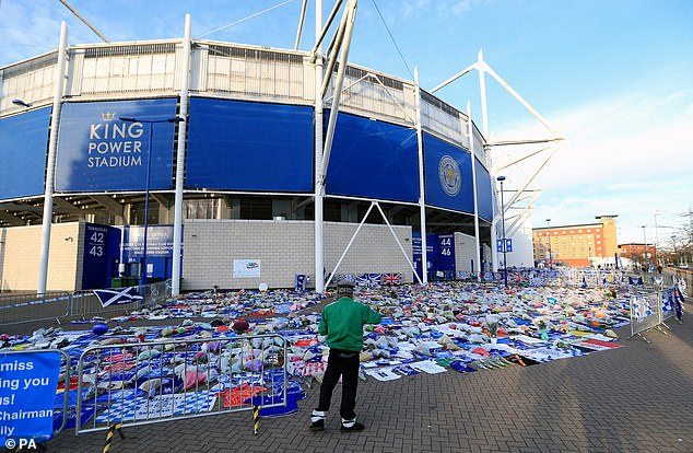 The fans have paid tribute to those who died before King Power Stadium