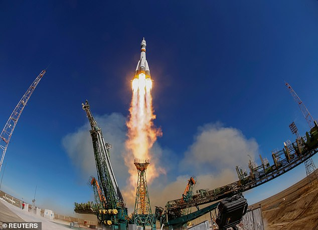 The Soyuz MS-10 spacecraft carrying the crew of astronaut Nick Hague of the U.S. and cosmonaut Alexey Ovchinin of Russia blasts off to the International Space Station (ISS) from the launchpad at the Baikonur Cosmodrome, Kazakhstan October 11, 2018 seconds before the mission was aborted