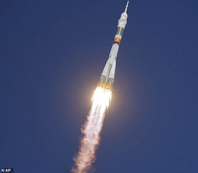 FILE - This Thursday, October 11, 2018, the photo of the Soyuz-FG rocket with the spacecraft Soyuz MS-10 carrying a new crew to the International Space Station ISS will be broadcast on the cosmodrome leased from the Russian leased land in Baikonur Sky flown. Kazakhstan Russia's space agency says an investigation has revealed that a missile carrying a crew to the International Space Station has recently failed due to a technical malfunction of a sensor.