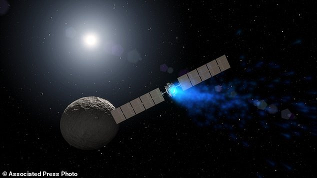 A NASA spacecraft called Dawn, which investigated two of the largest objects in the asteroid belt, has completed its 11-year mission after the fuel was used up. Image: This image shows the spaceship orbiting the dwarf planet Ceres