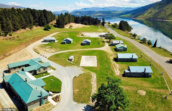 Lake Waitaki Village on New Zealand's South Island, abandoned 30 years ago but now available for £ 1.4 million (NZ $ 2.7 million)