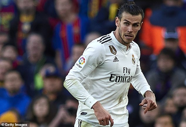 Bale was in the line of fire this week to show off at the Nou Camp