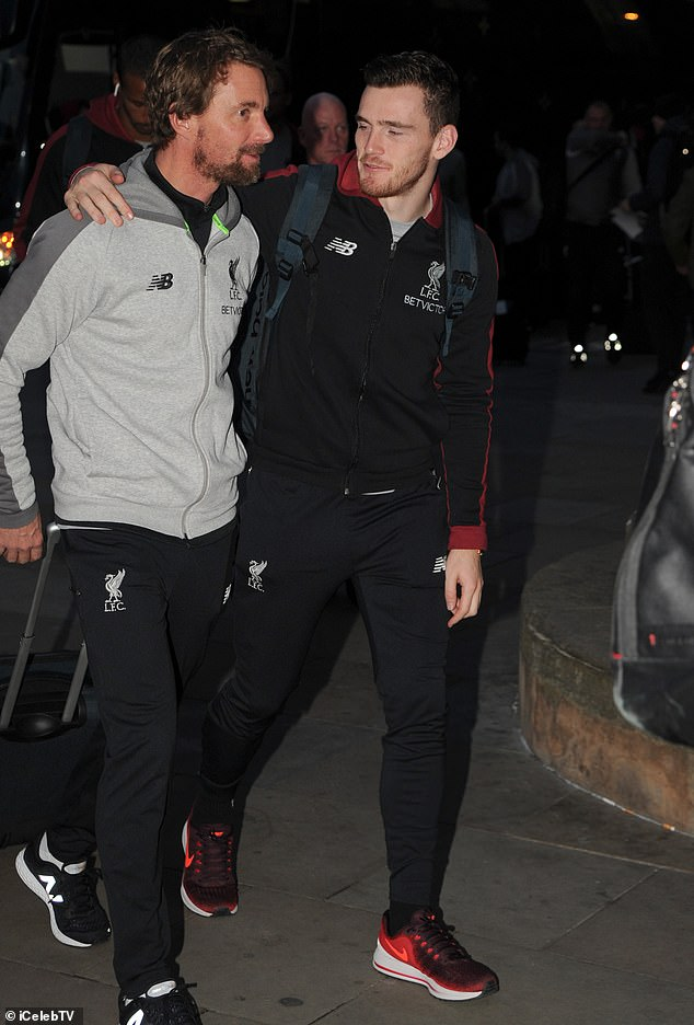 Defender Andy Robertson had seen a joke with fitness coach Andreas Kornmayer