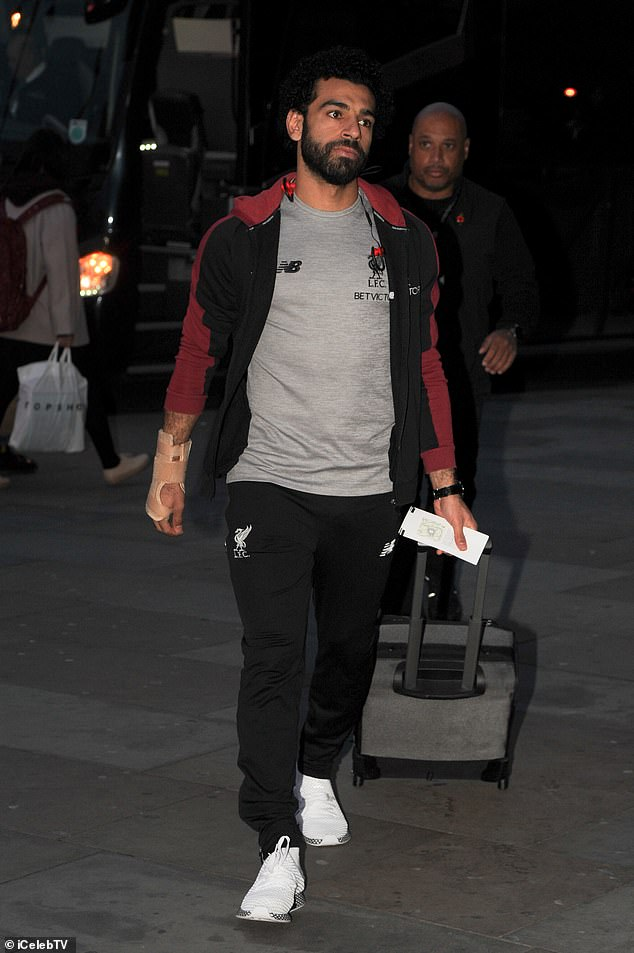 Mohamed Salah was one of the people who arrived at Liverpool Lime Street Station