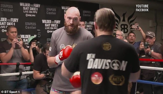 Tyson Fury has been training hard before the World Cup showdown on December 1st in California