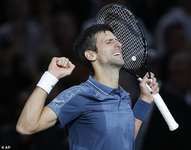 Novak Djokovic recovered from a defeat by Marin Cilic of Croatia at the Paris Masters