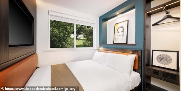 Bijou: One of the rooms shown above at East London Hotel