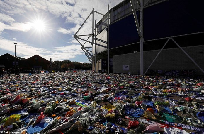 Leicester's late chairman outside the King Power Stadium