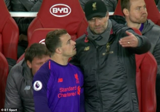 Xherdan Shaqiri was tied up when Jürgen Klopp told the Liverpool submarine tactics