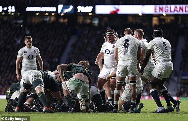 George played a crucial role in the 73rd minute of the scrum, which led to England's match penalty