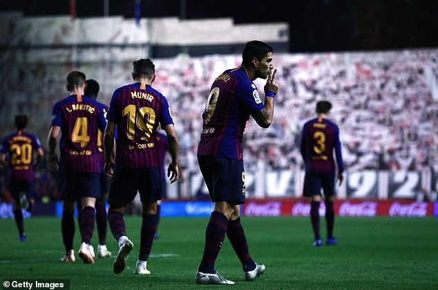 The result increased Barcelona's lead at the top of the league to four points ahead of Atletico