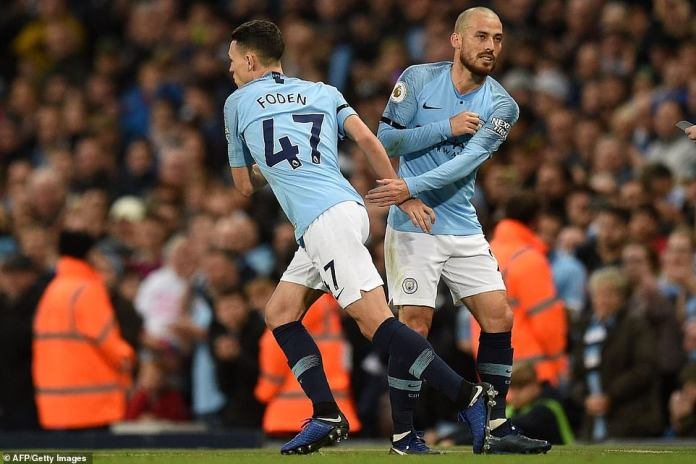 Guardiola took the opportunity to win the talented youngster Phil Foden in the second half for City