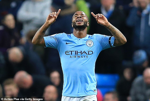 Pep Guardiola, manager of Manchester City, praised the winger Raheem Sterling