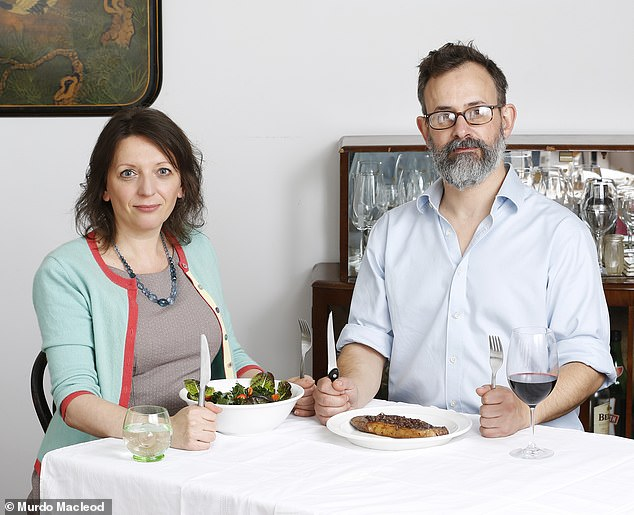 Andy (pictured right) says he was worried that Flic wouldn't get the right nutrition when she became vegan