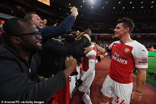Xhaka has become a favorite for some Arsenal fans because he plays with passion