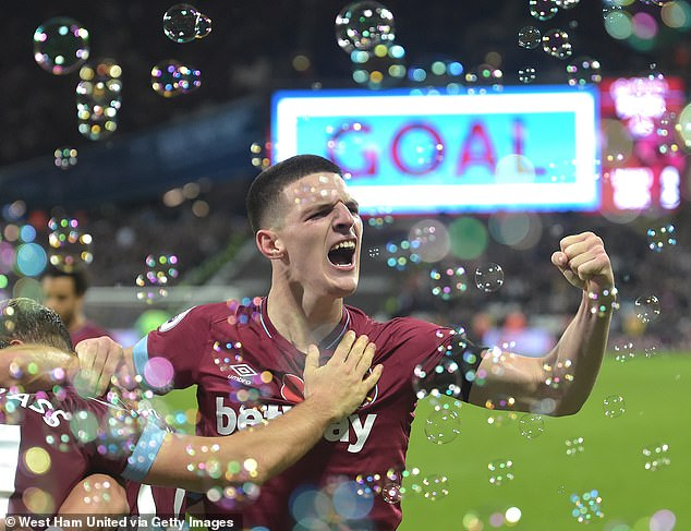 Declan Rice has become a top performer for West Ham in the Premier League this season
