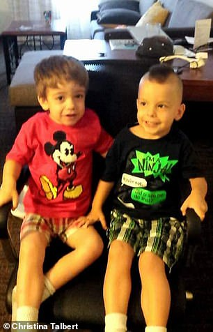 """Parker (left) and Lucas (right) are very similar fraternal twins, but Parker has the """"grosser"""" characteristics typical of children with Sanfilippo."""