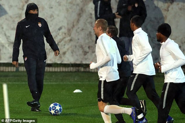 Henry actively participated in the session as Monaco's players trained