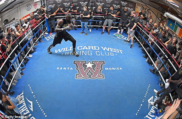 The WBC World Champion was held in an open session at the Churchill Boxing Club