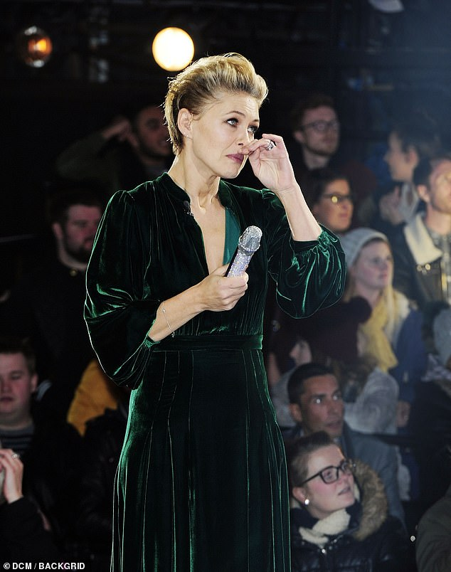 Devastated: When Emma chatted with Rylan at the sister show Bit On The Side, tears continued to fall
