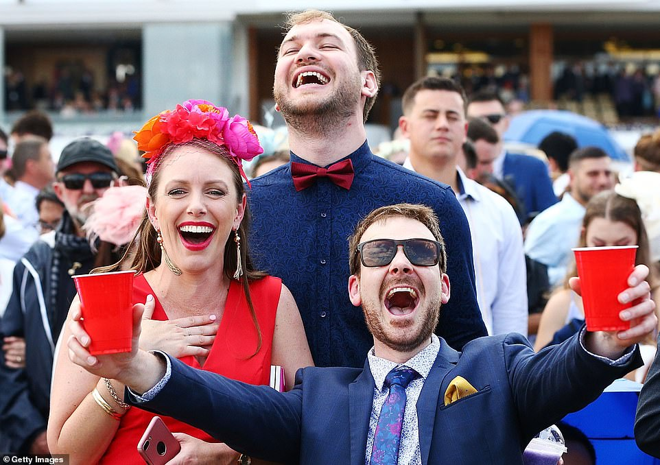 Racegoers appeared to be in extremely high spirits in the wake of the race, as thousands put on enthusiastic displays with their friends