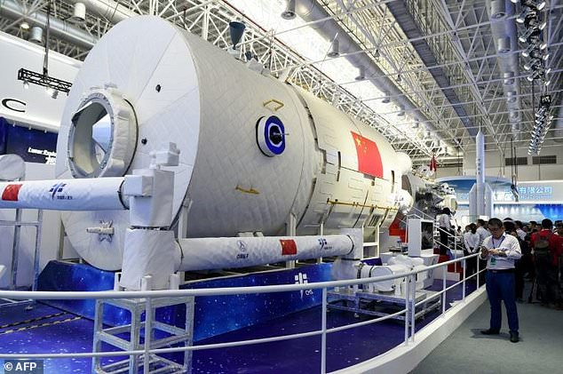 Three astronauts will be permanently stationed in the 60-tonne orbiting laboratory, allowing the crew to conduct biological research and microgravity. China says its space station will be open to all countries