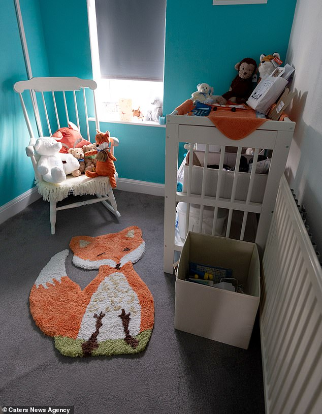 Miss Seddon had a broken heart when his first child, Vinnie, was born dead this year, but the couple is determined to have another child (pictured: Vinnie's bedroom)
