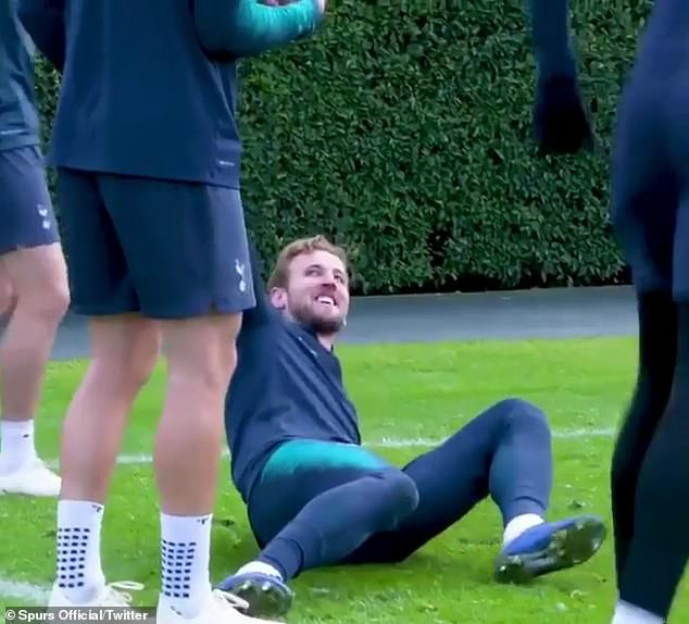 Harry Kane was nutmegged twice in a matter of seconds by his Tottenham team-mates