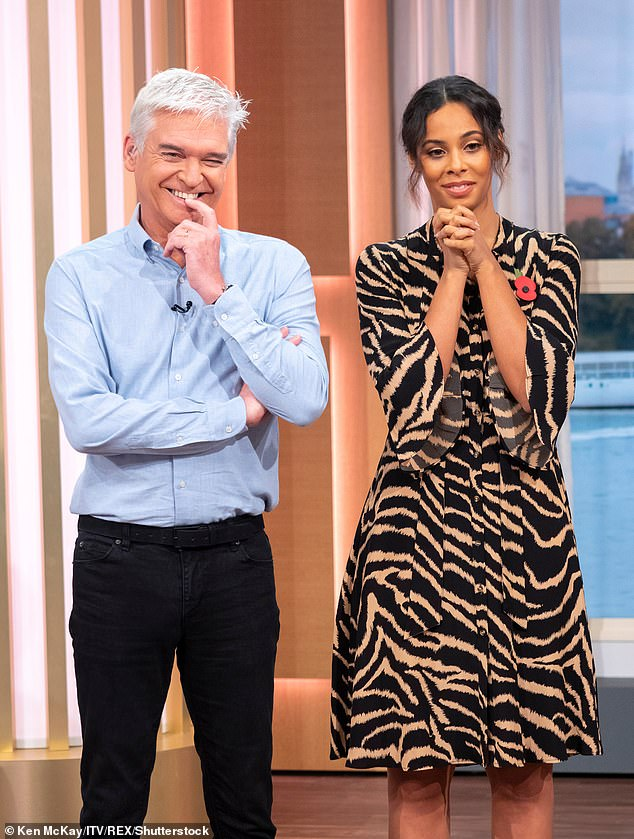 Settling in: Rochelle has stepped in to replace Holly as Phil's co-host on This Morning, while Holly is in Australia presenting the new series of I'm A Celebrity for ITV