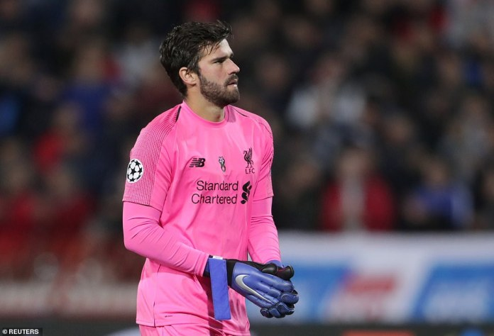 Alisson has not been on the losing side in the Premier League since joining Liverpool, but this was his second defeat in Europe