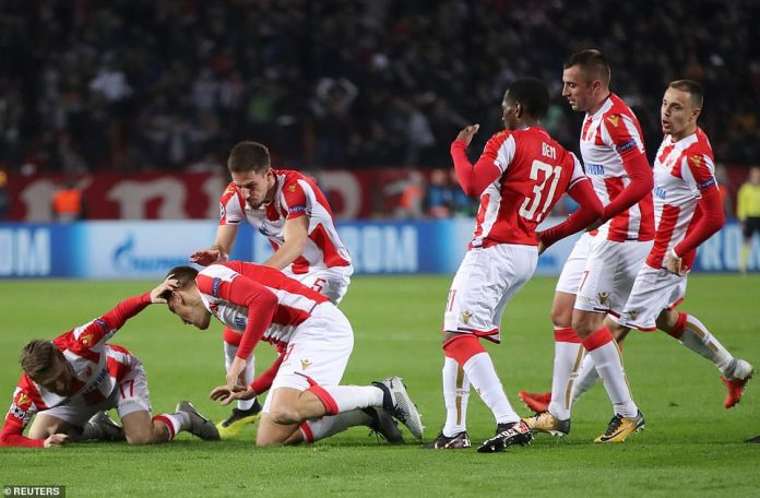 The home fans were thrilled and the Red Star team celebrated in good shape after Pavkov's early start