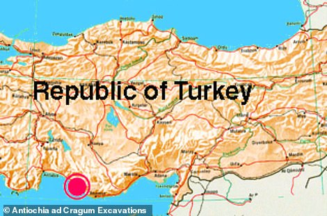 The mosaics were found in the coastal city of Antioch ad Cragum, in Turkey.