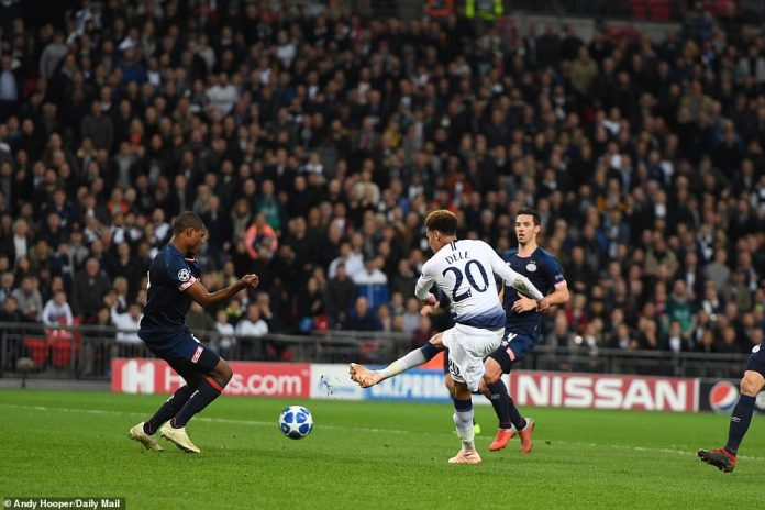 Alli tried to make up for his earlier mistake, but saw his efforts blocked as Spurs went in search of a equalizer
