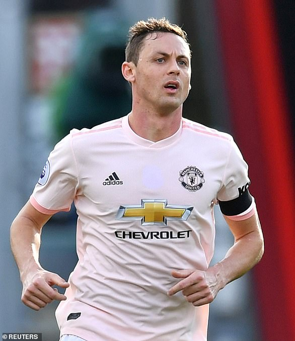 Manchester United midfielder Nemanja Matic did not wear a poppy either on Saturday, pictured, because it reminds him of the bombing of Serbia in 1999