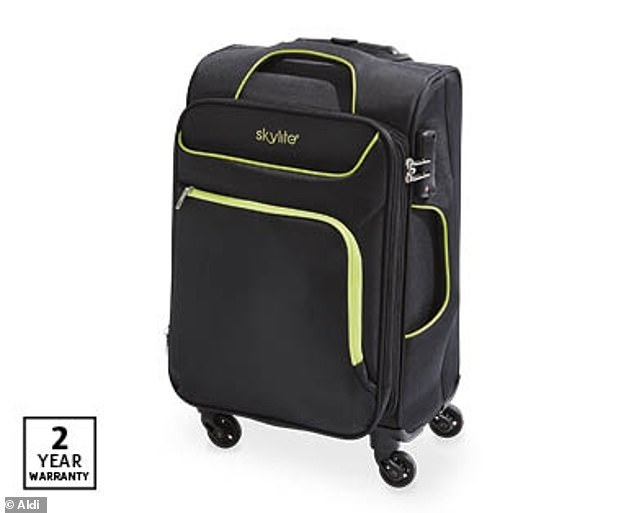 Soft touch carry-on wheelie cases (pictured) will be discounted to $39.99 for one day only