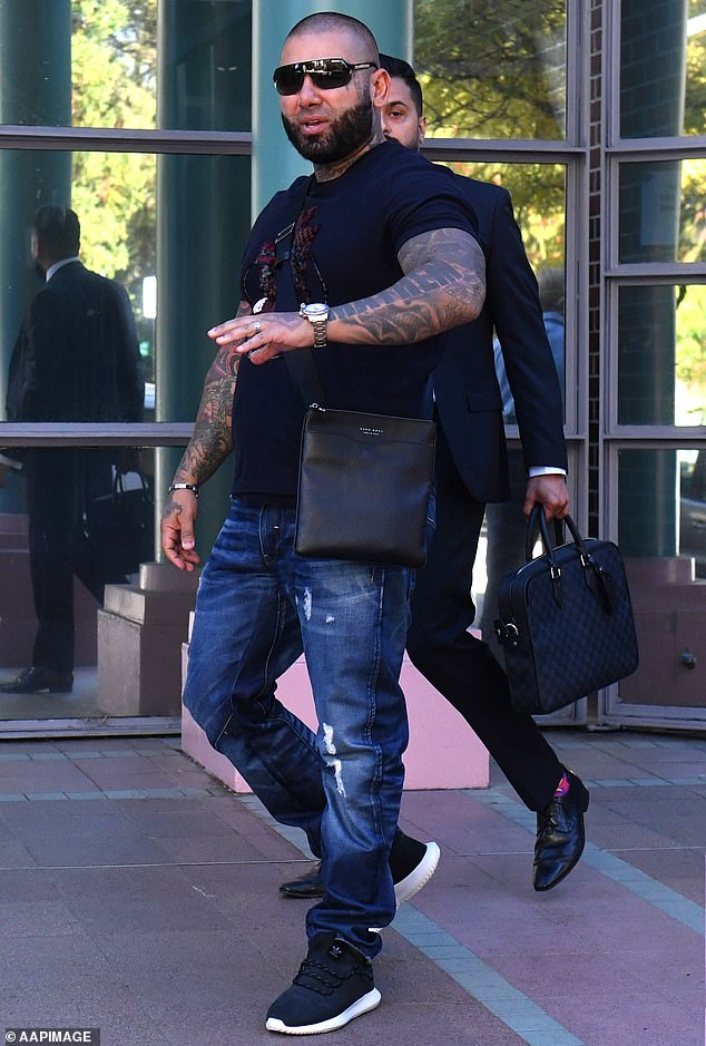 Tajjour (pictured) declined to comment when approached outside his western Sydney home, but later issued a statement through his lawyer
