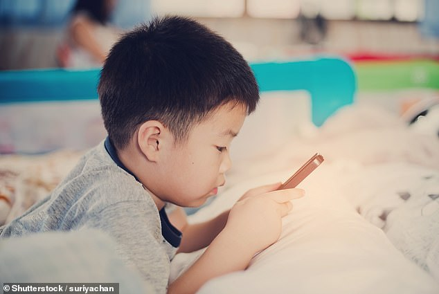 Each additional hour spent per day on a gadget increases a child's risk of being short of three percent, according to research from King's College London