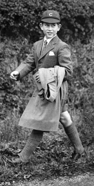 Charles on his way to Cheam School in Berkshire at the age of nine in 1958