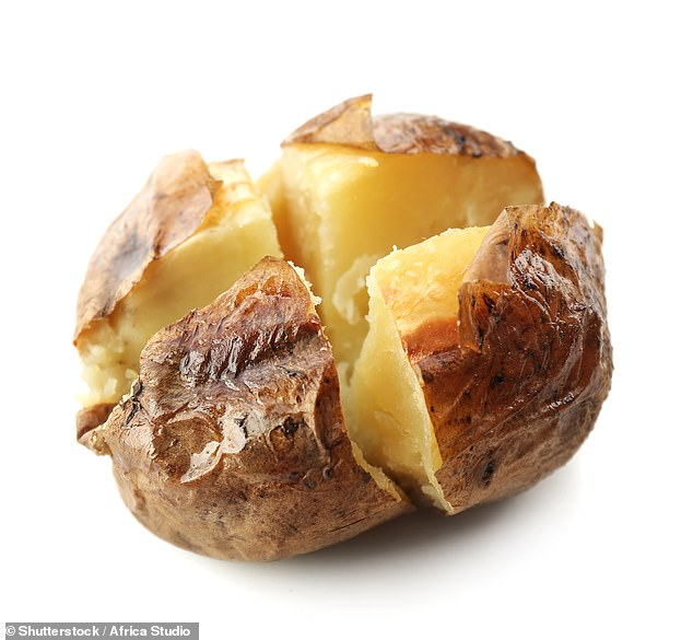 Baked potatoes can be stored well in thermos flasks and the starch can reduce the cravings in the afternoon