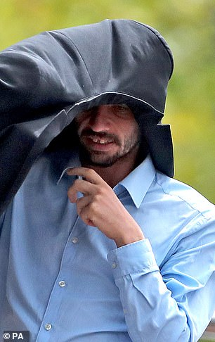 Thornton, pictured outside Maidstone Crown Court in August failed to show up last month for his sentencing hearing