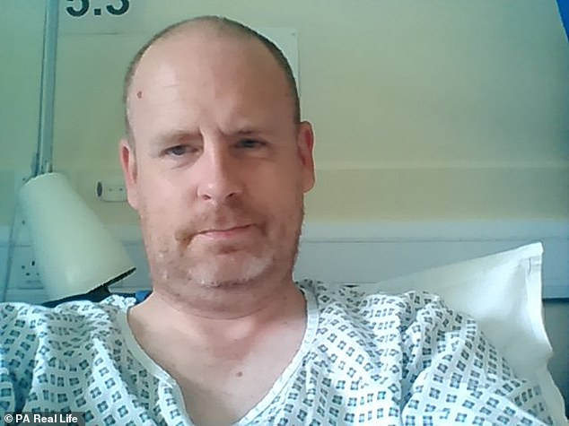 Mr Twemlow realized that something was wrong when his testicle was swollen and painful - his doctor initially thought it was an infection but when the antibiotics did not help he was sent for the ultrasound scans that they revealed the true diagnosis