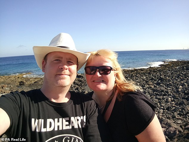 After Mr. Twemlow (pictured with Mrs. Twemlow on holiday in Lanzarote) removed his testicle, felt pain and for several months - especially in the winter months - due to scars and bruises inside and outside. external of his scrotum