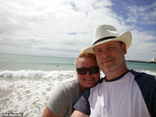 The Twemlow couple (pictured on holiday in Lanzarote, Spain) had been together for two years before proposing, and will return to Las Vegas this Christmas to celebrate their one-year anniversary