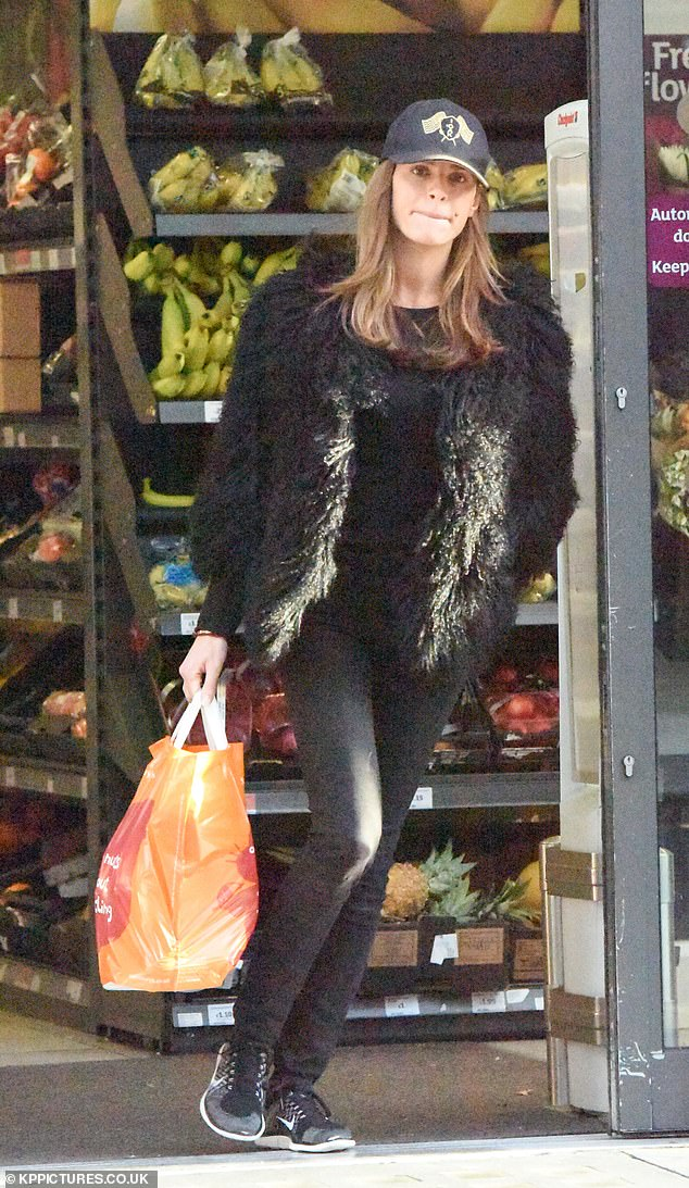 Mum life:Missé Beqiri kept things low-key for a quick trip to her local London supermarket on Thursday, ditching her usual glam makeup for a barefaced look