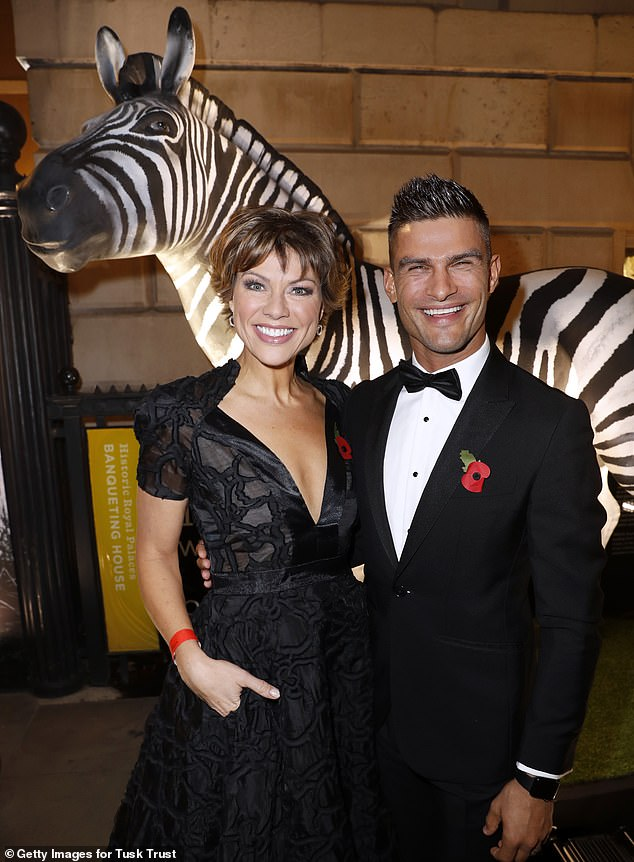Night on the town: Kate and Aljaz enjoyed a much-needed break from rehearsals
