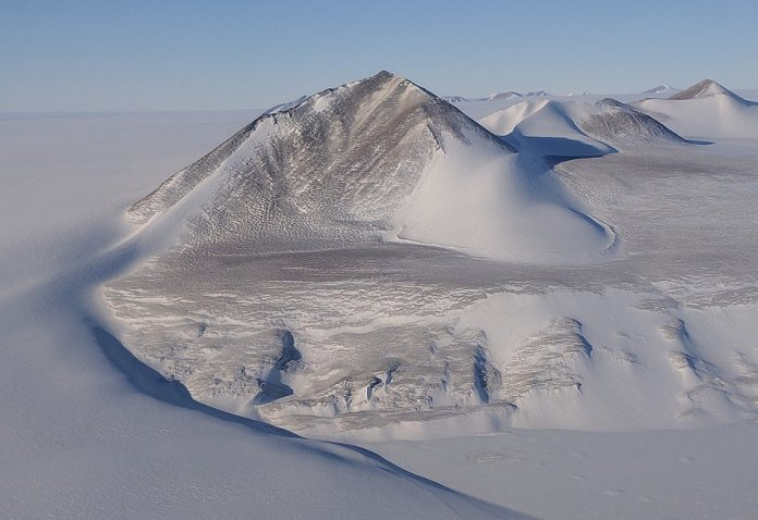 From yesterday's #IceBridge flight: Mountains in the Shackleton Range, bordering Recovery Glacier, East Antarctica.